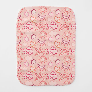 toy background burp cloth
