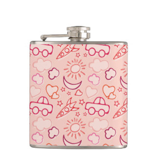 toy background hip flask
