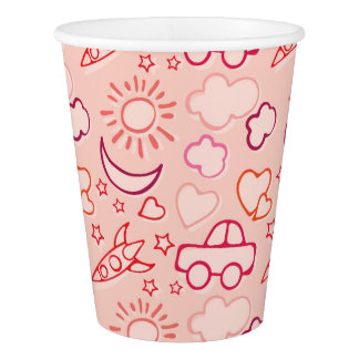 toy background paper cup