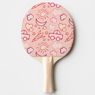 toy background ping pong paddle