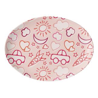 toy background porcelain serving platter