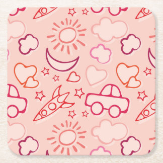 toy background square paper coaster