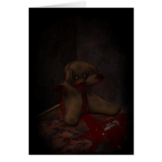 Toy Bear Suicide Card