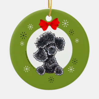 Toy Black Poodle Christmas Classic Christmas Ornament