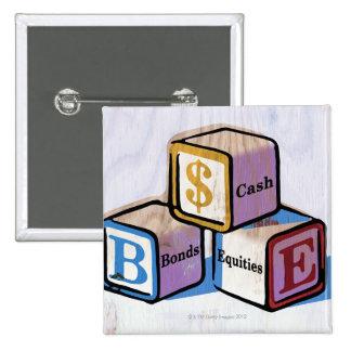 Toy Blocks 15 Cm Square Badge