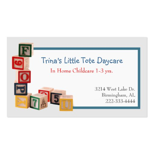 daycare business cards