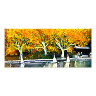 Toy Boats in the Park Book Mark Personalized Rack Card
