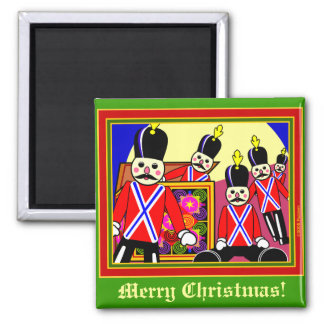 Toy Box Parade Square Magnet