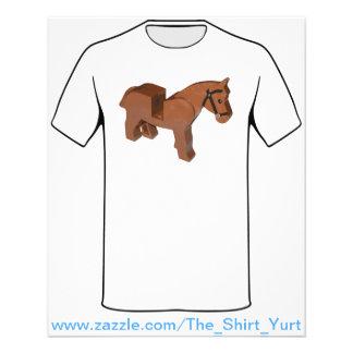 Toy Brick Horse Flyer Design