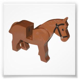 Toy Brick Horse Photo