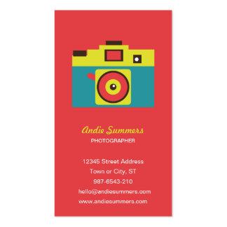 Toy Camera (CMYK) Photographer Biz Card Business Card Templates