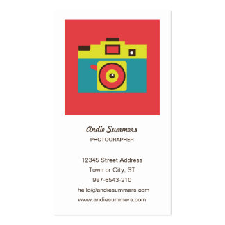 Toy Camera (CMYK) Photographer Profile Card Business Card Template