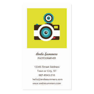 Toy Camera (Fisheye) Photographer Profile Card Business Card
