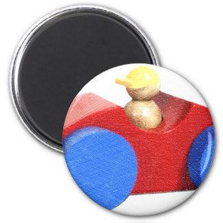 Toy Car 6 Cm Round Magnet