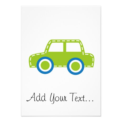 Toy Car Personalized Announcements