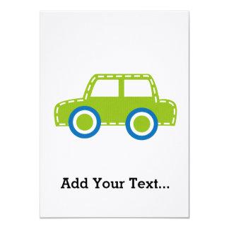 Toy Car 4.5x6.25 Paper Invitation Card
