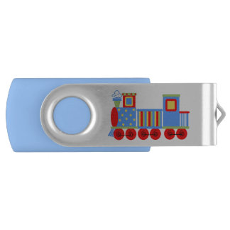 Toy Choo Choo Train Custom Swivel USB Drive Swivel USB 2.0 Flash Drive