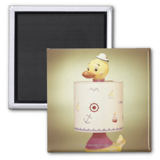 Toy duck lamp square magnet