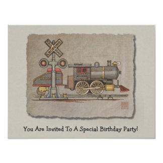 Toy Electric Train 11 Cm X 14 Cm Invitation Card