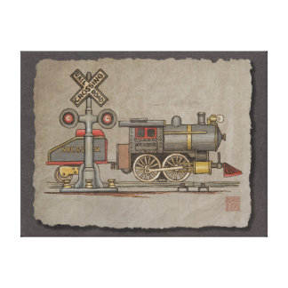 Toy Electric Train Canvas Print