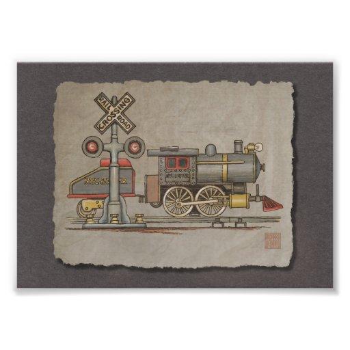 Toy Electric Train Photo Print