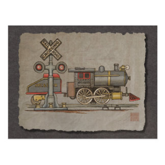 Toy Electric Train Postcards