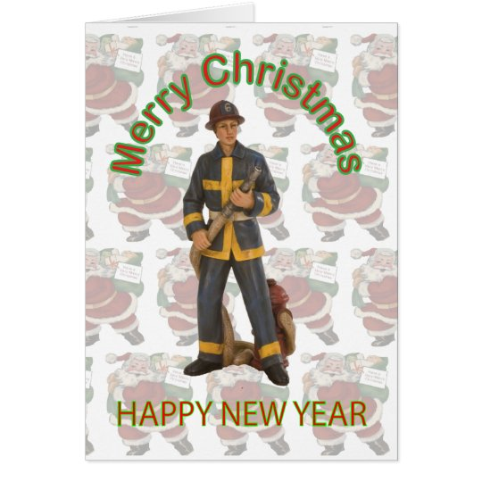Toy Firefighter Christmas Card