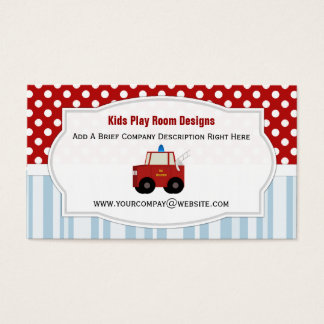 Toy Firetruck Business Cards