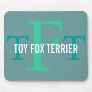 Toy Fox Terrier Breed Monogram Mousepad