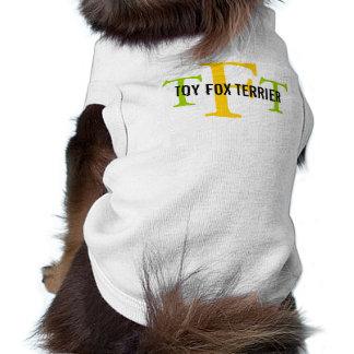Toy Fox Terrier Breed Monogram Sleeveless Dog Shirt