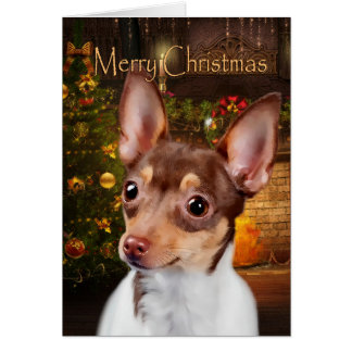 Toy Fox Terrier Christmas Card