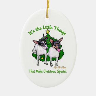 Toy Fox Terrier Christmas Gifts Christmas Ornament
