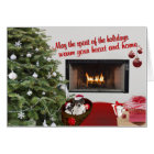 Toy Fox Terrier Christmas Wishes Greeting Card