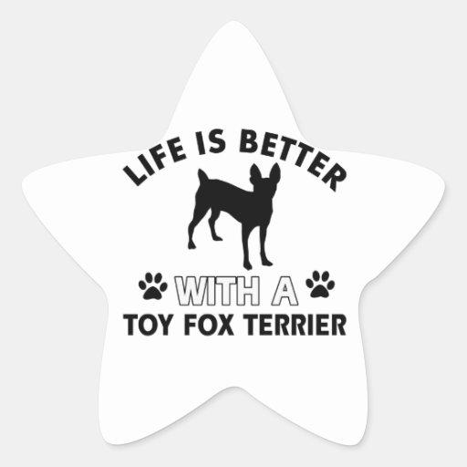 Toy Fox Terrier dog breed designs Star Stickers