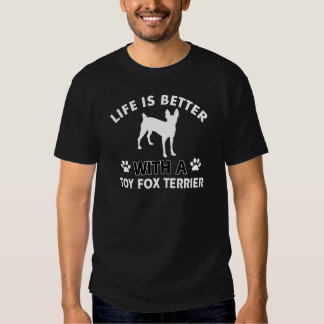 Toy Fox Terrier dog breed designs Tees