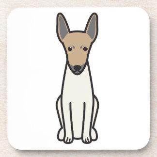 Toy Fox Terrier Dog Cartoon Beverage Coasters