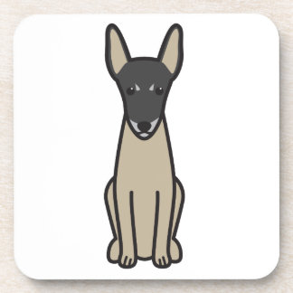 Toy Fox Terrier Dog Cartoon Drink Coaster