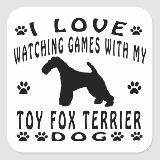Toy Fox Terrier Dog Design Stickers