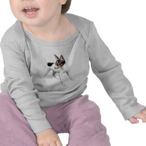 Toy Fox Terrier on White Tee Shirt