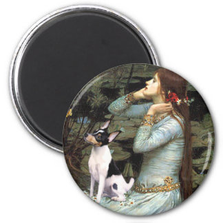 Toy Fox Terrier - Ophelia Seated 6 Cm Round Magnet
