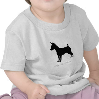 Toy Fox Terrier silhouette Tee Shirts