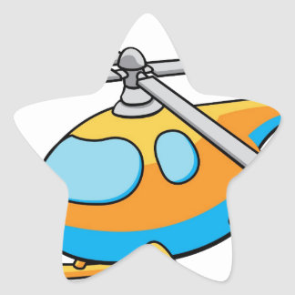 Toy Helicopter Illustration Star Stickers
