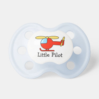 Toy helicopter pilot pacifier | Aviation theme