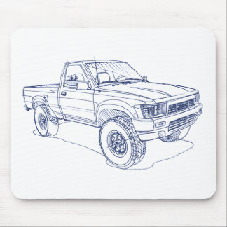 Toy Hilux Gen5 1989 Mouse Mat