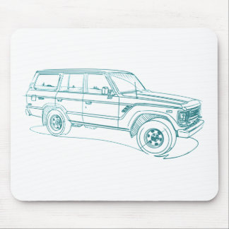Toy LandCruiser FJ60 1980-90 Mouse Mat