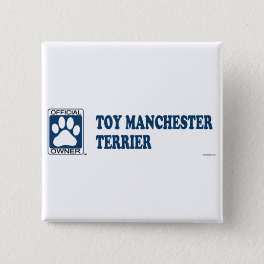 TOY MANCHESTER TERRIER_Blue 15 Cm Square Badge