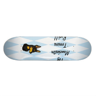 Toy Manchester Terrier - Blue Diamond Design 20.6 Cm Skateboard Deck