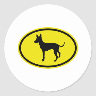 Toy Manchester Terrier Classic Round Sticker