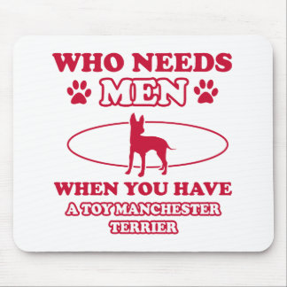 Toy Manchester Terrier dog breed designs Mouse Pad