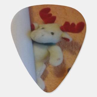 Toy moose guitar pick